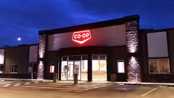 South Country Co-op Corporate Office at night